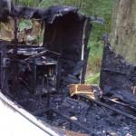 wohnwagen ausgebrannt